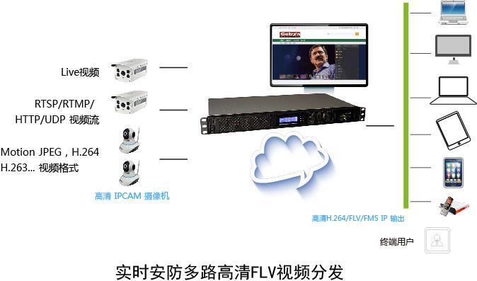 高创 Go on Live Cam server安防 IP CAM 手机视频转发服务器
